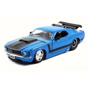 1970 Ford Mustang Boss 429, Blue - JADA 98026 - 1/24 Scale Diecast Model Toy Car