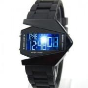 Led čierne luxusné hodinky