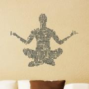 Wall Sticker Yoga Men Design (Cover Area :- 28 X 22 inch)