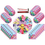 My Little Pony Mss Birthday Party Supplies Bundle Pack For 16 With Large 17 Balloon Plus Planning Checklist By Mikes Super Store
