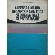Algebra Lineara, Geometrie Analitica Si Diferentiala Si Programare - Gh. Th. Gheorghiu