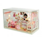 Toyouna Miniature DIY Dollhouse Kit with Furniture Accessories Creative for Lovers and Friends(My Dream House)