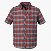 Schöffel 1/2-Arm Hemd - Herren - rot/grau/kariert in Größe 48