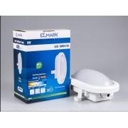 LED hajólámpa , 12W , falon kívüli , ovális , természetes fehér , IP54