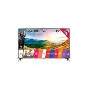 "Smart TV LED 43"" LG 43UJ6525 Ultra HD 4K HDR, Wi-Fi, 2 USB, 4 HDMI, DTV, IPS, 120Hz"