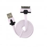 Cablu Date & Incarcare APPLE iPhone 4 (30 Pini) Plat - 1 Metru (Alb)