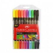 Carioca 10 culori neon Faber Castell lavabil cu 2 capete 151109
