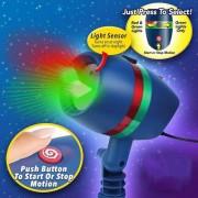 Proiector luminos Laser Motion pentru exterior rezistent la apa