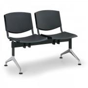 Kovo Praktik Plastové lavice Design, 2-sedák černá
