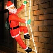 Vánoční dekorace - Santa Claus na žebříku