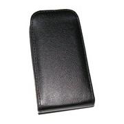 Кожен калъф Flip за Nokia X2 Dual Черен