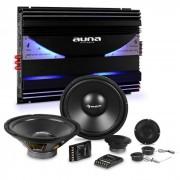 Auna CS-Comp-10 Set de altavoces Hi-Fi para coche con amplificador de 6 canales