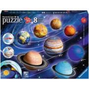 Puzzle 3D sistemul solar - 27/54/72/108 piese