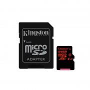Card Kingston microSDXC 64GB Clasa 10 UHS-I U3 cu adaptor SD