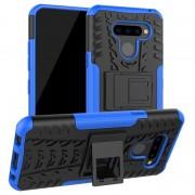Capa Híbrida Anti-Slip para LG Q60 - Azul / Preto