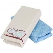 Комплект чаршафи Joy line, toTs, синьо хипопотамче - сатен, 011221