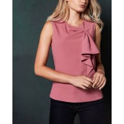Ted Baker Top Sin Mangas Con Lazo