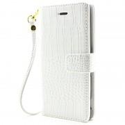 Capa Tipo Carteira Crocodilo para Sony Xperia XA, Xperia XA Dual - Branco