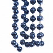 Decoris 3x stuks kerst XXL kralen guirlandes donkerblauw 270 cm kerstboom versiering/decoratie