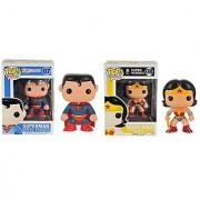 Funko Superman POP Heroes - Wonder Woman POP Heroes Bundle