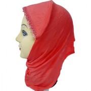 Hijab PEACH LACE RHINSTONE CANVAS NINJA Under Scarf Ladies Abaya Head Hair Cover Women Tube Cap Burqa Stole Hosiery