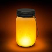 Elemes LED üveg lámpás lobogást imitáló lánggal 13,6 cm