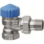 Heimeier Thermostat-Ventilunterteil 2241-03.000 Rp 3/4xR 3/4, Eck, Rotguss vernickelt, geringer Widerstand