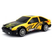 Drift King Retro Legend Remote Control RC Drifting Racing Race Car 1:24 Scale Size Ready To Run w/ Bright LED Lights, Extra Set of Grip Tires (Colors May Vary) by Velocity Toys