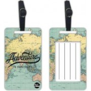 Nutcaseshop Adventure Is Out There Luggage Tag(Multicolor)