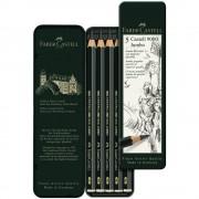 Set creion grafit FABER-CASTELL Jumbo 9000, 5 buc/set