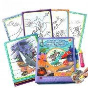Tango Magic Water Drawing underwater world Cloth Book Coloring Book travel Doodle Mat Children's Drawing Toys Mat Development Toys Doodle with Magic water Pen Painting for Kids toddlers Baby