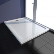 vidaXL Brodzik prysznicowy prostokątny ABS biały 80 x 110 cm