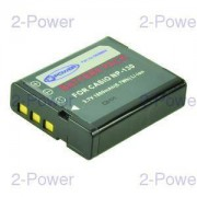 2-Power Digitalkamera Batteri Casio 3.7v 1600mAh (NP-130)