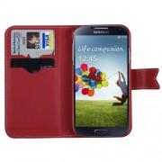 Funda Cartera Rojo con Blanco Samsung Galaxy S4