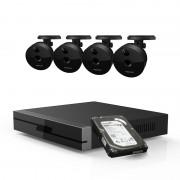 Kit videosorveglianza 1080P Foscam Hd con NVR 4 CH e 4 cam da interno
