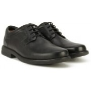 Clarks Carter Air Black Leather Lace Up For Men(Black)