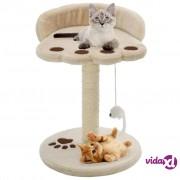 vidaXL Penjalica za mačke sa stupovima za grebanje od sisala 40 cm bež i smeđa