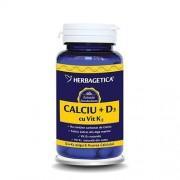 Calciu+d3 Cu Vit K2 30cps Herbagetica