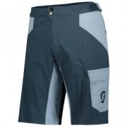 Scott Shorts Trail Flow w/Pad Nightfall Blue/Washed Blue