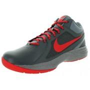 Nike Men's The Overplay ViiiDark Grey and University RedBasketball Shoes -10 UK/India (45 EU)(11 US)