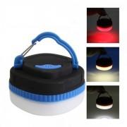 Lampa 1+7 LED pe baterii Rosu, Alb Cald si Rece cu magnet si agatatoare