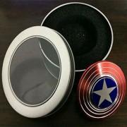 Captain America Shield Metal Hand Spinner Fidget Stress Reducer 2-3 min spintime