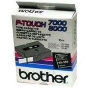 Banda continua laminata Brother TX355, 24mm, 15m