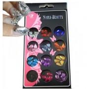 Set cristale pentru unghii false - 12 bucati