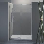 Porta doccia scorrevole Wendy da 158/160 cm in cristallo 8 mm Cerniere Sabbiato Lampi DX