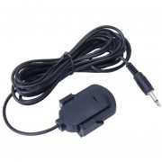 Car Audio Microfono Conector Jack De 3,5 Mm Microfono Stereo Mini Cable De Microfono Para Auto Adhesivo Externo Reproductor DVD Radio, Longitud De Cable: 2.1M