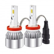 Kit 2 led-uri auto H11 C6, 48 W, 6000K, 3800 lm