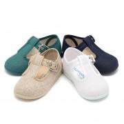Pisamonas Sapatos Pepito Linho com Fivela