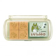My Neighbor Totoro Design Stamp Set (4 Wooden Stamps and Stamp Pad)