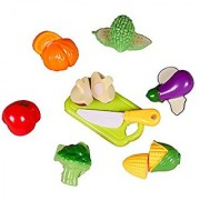 Vegetables Cutting Play Toy Set Can Be Cut in 2 Parts 7 Vegetables